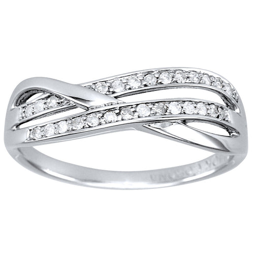 Diamond Wedding Band in 10K White Gold (0.15ct tw)