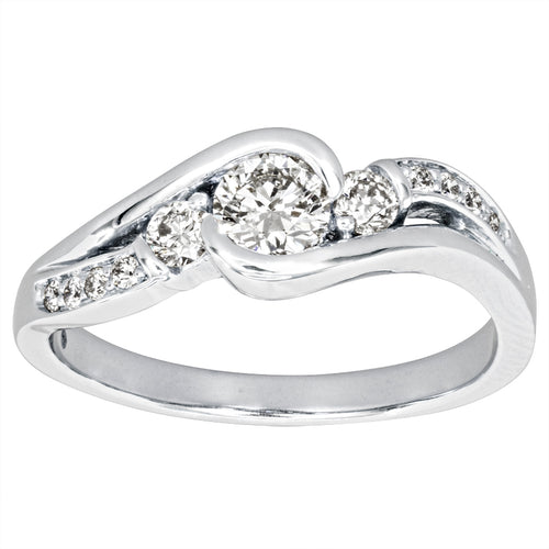 Diamond Engagement Ring in 14K White Gold (0.50ct tw)