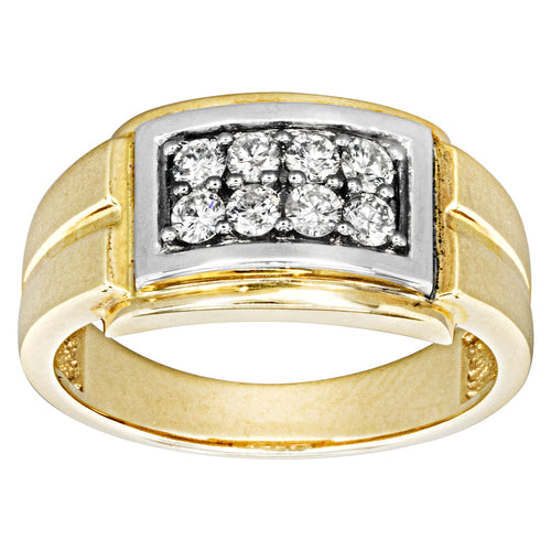 Diamond Mens Ring in 10K Yellow Gold (0.50ct tw)