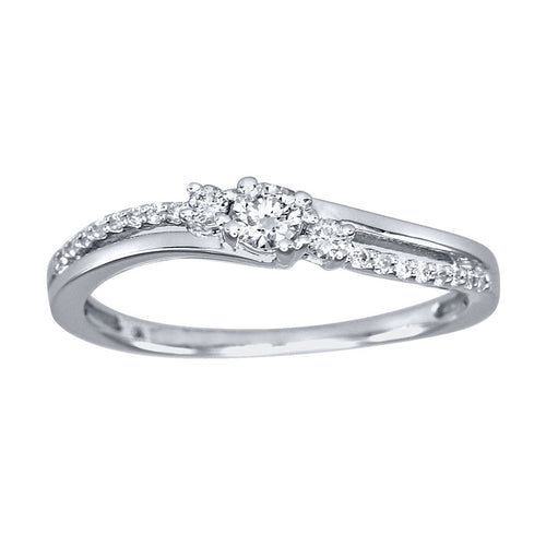 Diamond Promise Ring in 10K White Gold (0.20ct tw)