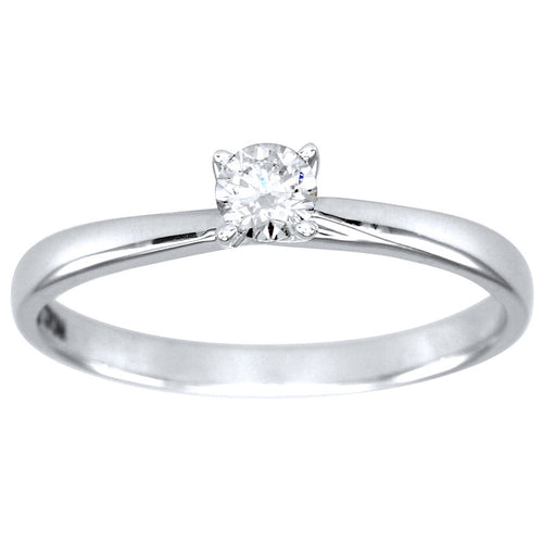 Diamond Solitaire Ring in 14K White Gold (0.20ct tw)