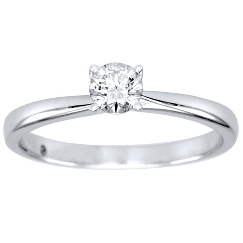 Diamond Solitaire Ring in 14K White Gold (0.30ct tw)