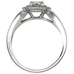 Canadian Diamond Halo Engagement Ring in 14K White Gold (0.96ct tw)