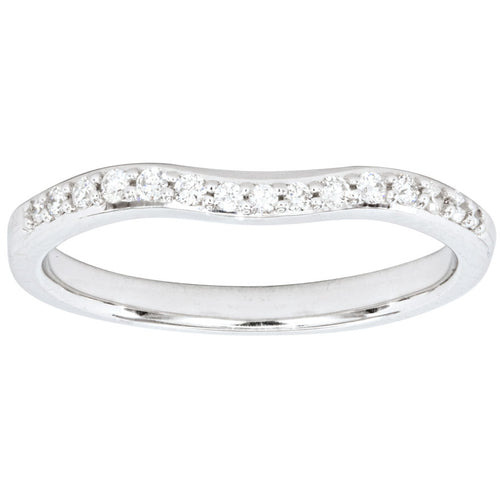 Matching Diamond Wedding Band in 14K White Gold (0.13ct tw)
