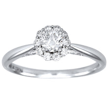 Load image into Gallery viewer, Canadian Diamond Cathedral Engagement Ring in 14K White Gold (0.51ct tw)