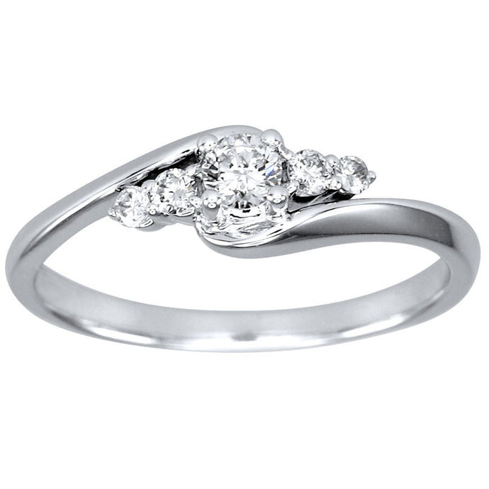 Diamond Cluster Ring in 14K White Gold (0.25ct tw)