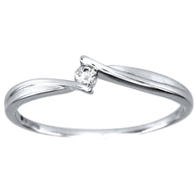Load image into Gallery viewer, Diamond Celebration Ring in 10K White Gold (0.04ct tw)