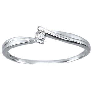 Diamond Celebration Ring in 10K White Gold (0.04ct tw)