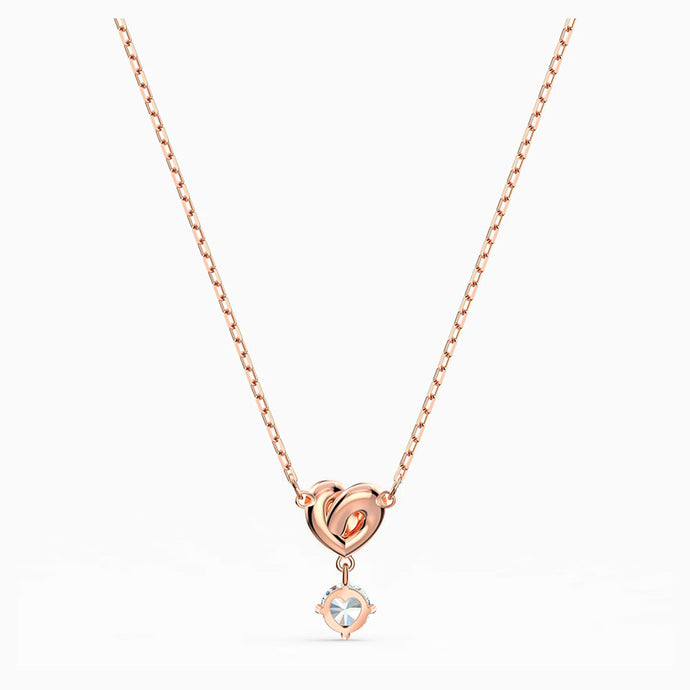 Swarovski Lifelong Heart Pendant, White, Rose-Gold Tone Plated | 5516542