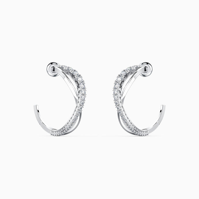 Swarovski Crystal Twist Hoop Pierced Earrings | 5563908