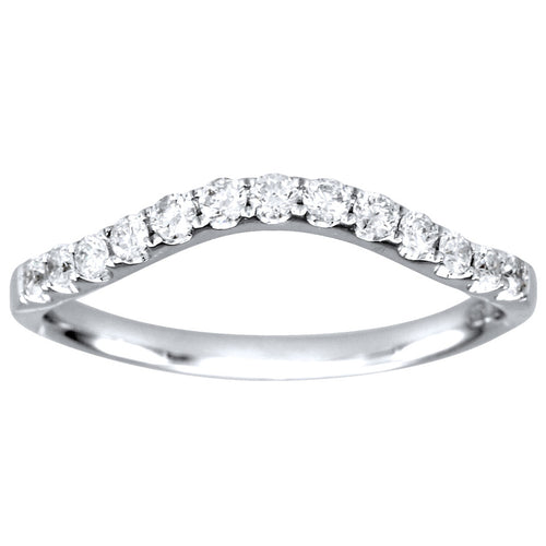 14K White Gold Diamond Matching Wedding Band (0.26ct tw)