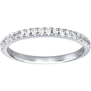 Diamond Wedding Band in 18K White Gold (0.24ct tw)