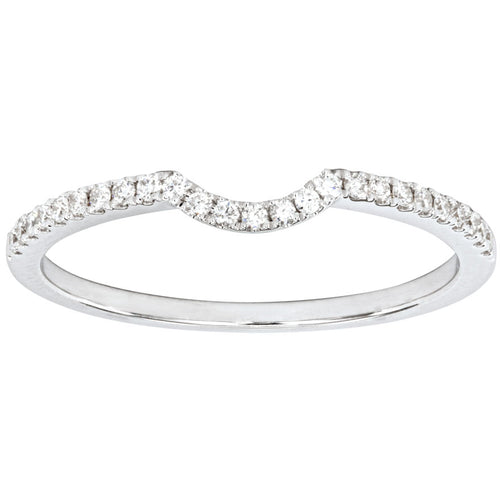 Matching Diamond Wedding Band in 18K White Gold (0.13ct tw)
