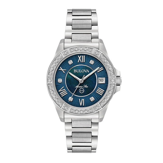 Bulova Women's Marine Star Diamond Watch | 96R215