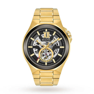 Bulova Men's Gold Tone Classic Automatic Watch | 98A178
