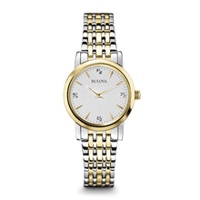 Load image into Gallery viewer, Bulova Women' Diamond Silver White Dial Bracelet Watch