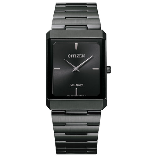 Citizen Stiletto Men's Tank Watch In Black Dial