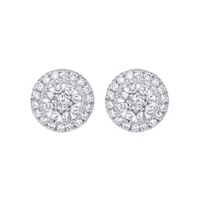 Load image into Gallery viewer, Round Cluster Diamond Stud Earrings in 14K White Gold (0.33 ct tw)