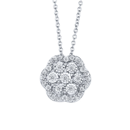 10K Diamond Cluster Pendant (0.35 ct tw)
