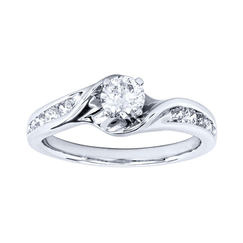 14K White Gold Diamond Engagement Ring (0.75ct tw)