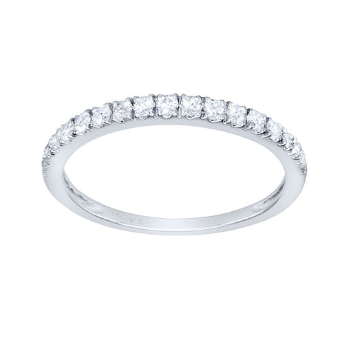 Diamond Micro-Claw Set Wedding Band in 14K White Gold (0.24ct tw)