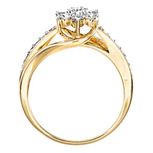 Load image into Gallery viewer, Flower Cluster Diamond Ring in 10K Yellow Gold (0.62ct tw)