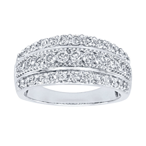Diamond Statement Ring in 10K White Gold (1.00ct tw)