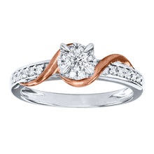 Load image into Gallery viewer, 10K White and Rose Gold Engagement Ring (0.30 ct tw)