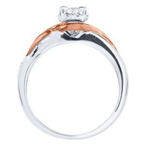 10K White and Rose Gold Engagement Ring (0.30 ct tw)