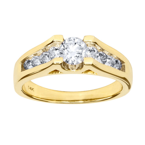 Diamond Engagement Ring in 14K Yellow Gold (1.00 ct tw)