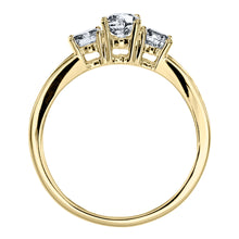 Load image into Gallery viewer, Three-Stone Diamond Engagement Ring in 10K Yellow Gold (1.00ct tw)