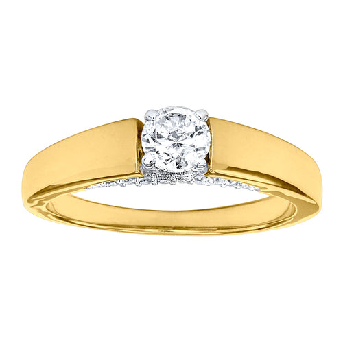 14K Yellow Gold Solitaire Diamond Engagement Ring (0.50 ct tw)