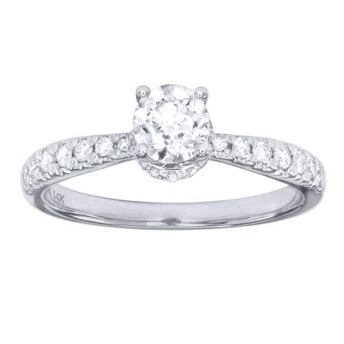 14K White Gold Engagement Ring (0.75ct tw)