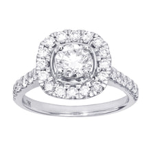 Load image into Gallery viewer, Halo Diamond Engagement Ring in 14K White Gold (1.5 ct tw)
