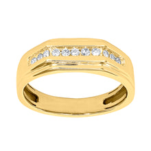 Load image into Gallery viewer, Gents Channel Set Diamond Ring in 10K Yellow Gold (0.25ct tw)