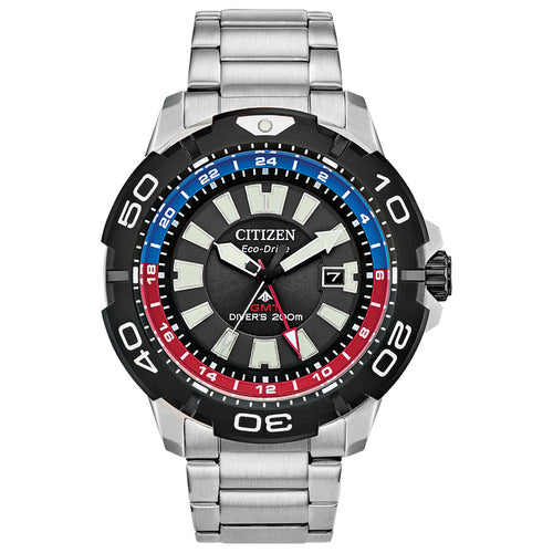 Citizen Promaster GMT Divers Watch With Blue and Red Inner Bezel