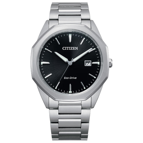 Citizen Eco-Drive Corso Black Dial Mens Watch