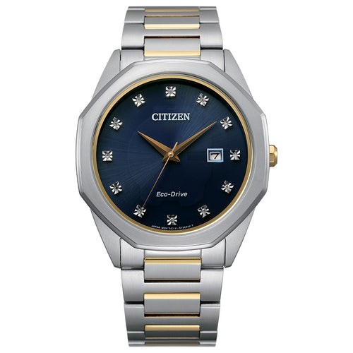 Citizen Corso Eco-Drive Watch Blue Diamond Dial