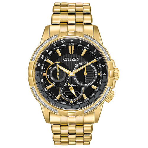 Citizen Eco-Drive Calendrier Gold Tone