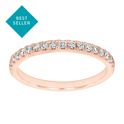Matching Diamond Wedding Band in 14K Rose Gold (0.20 ct tw)