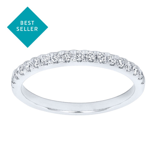 Matching Diamond Wedding Band in 14K White Gold (0.20ct tw)