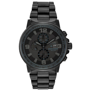 Citizen Men's Nighthawk Eco-Drive Blackout Watch | CA0295-58E