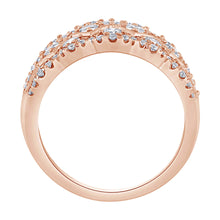 Load image into Gallery viewer, Diamond Cluster Ring in 14K Rose Gold (2.00ct tw)