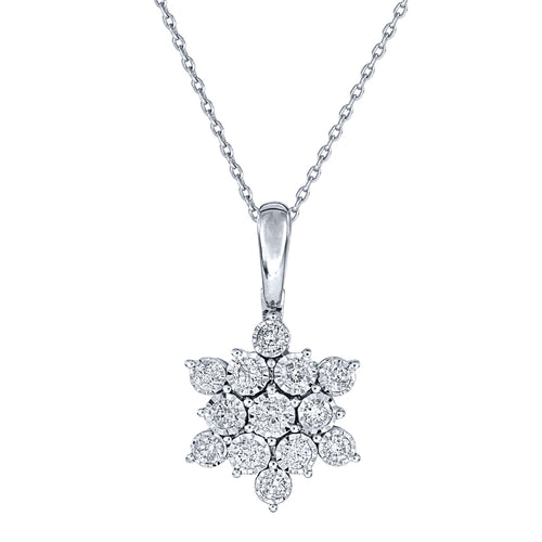 -Aria- Star Diamond Pendant Necklace In 10K White Gold (0.50 ct tw)