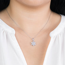 "Load image into Gallery viewer, ""Aria"" Star Diamond Pendant Necklace In 10K White Gold (0.50 ct tw)"
