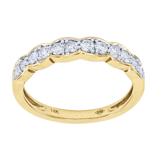 Ladies Diamond Anniversary Ring in 14K Yellow Gold (0.40 ct tw)