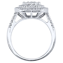 Load image into Gallery viewer, Pear Shaped Diamond Cluster Ring In 10K White Gold (0.75ct tw)