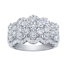 "Load image into Gallery viewer, ""Majestic"" Diamond Cluster Ring in 10K White Gold (1.00 ct tw)"