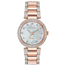 Load image into Gallery viewer, Citizen Eco-Drive Silhouette Crystal Rose Gold Tone | EM0843-51D