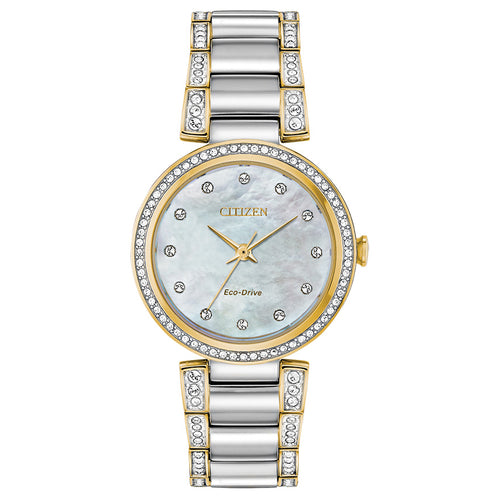 Citizen Eco-Drive Silhouette Crystal Two-Tone Stainless Steel